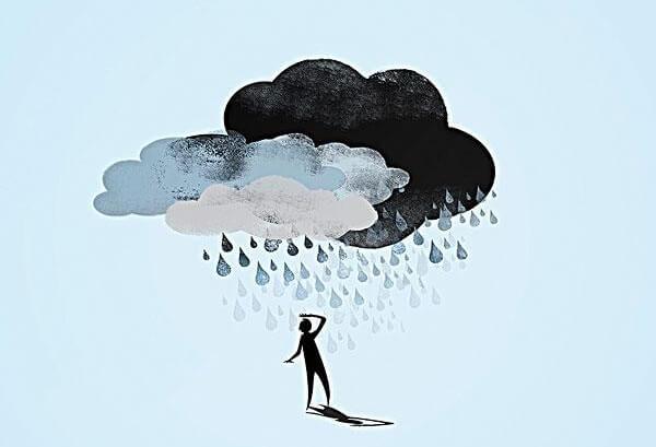 人に雨を降らせる雲