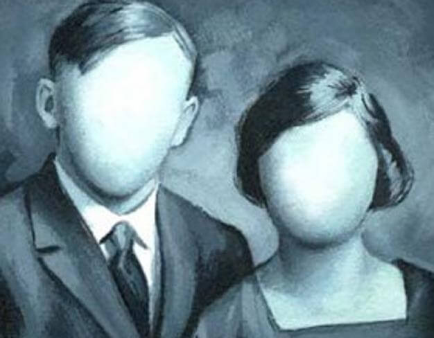 顔のないカップル