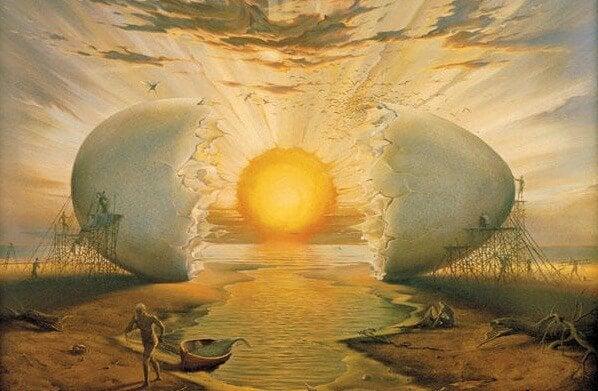 卵からかえる太陽