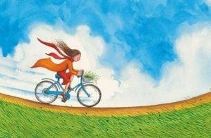 自転車に乗る少女