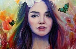 虹色の髪の少女