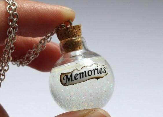 思い出のガラス瓶