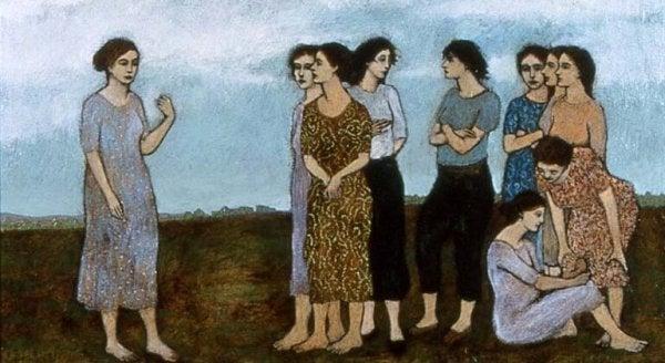 女性のグループ