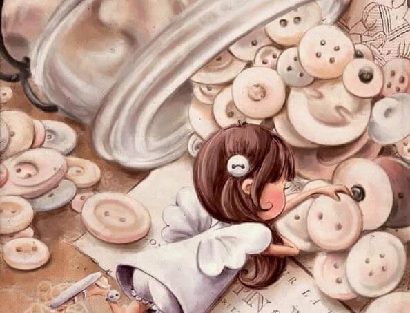 少女とボタン