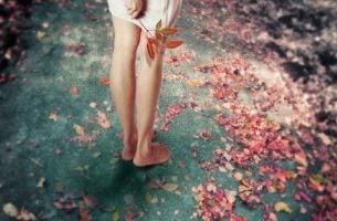 足元の花びら