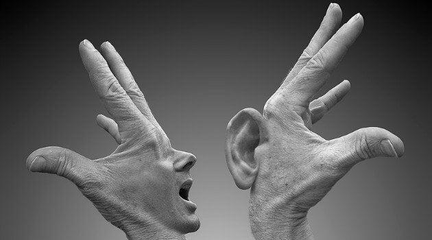 叫ぶ手と聞く手