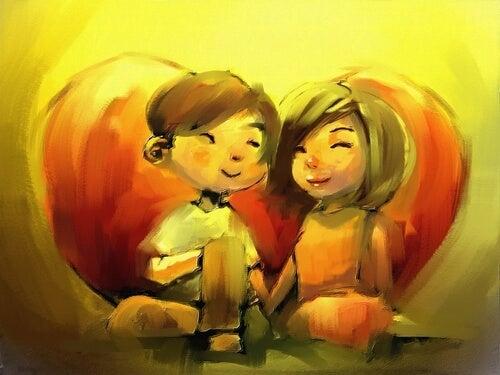恋をする二人