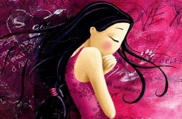 紫の中の少女