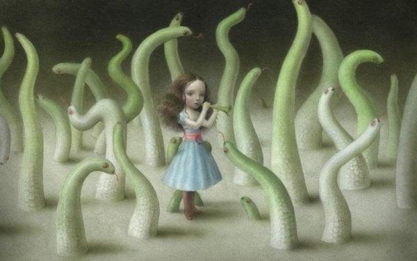 蛇使いの少女