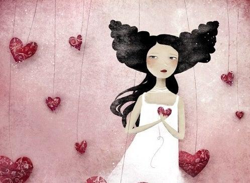 ハート胸に抱く少女