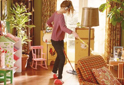 音楽を聴きながら掃除する