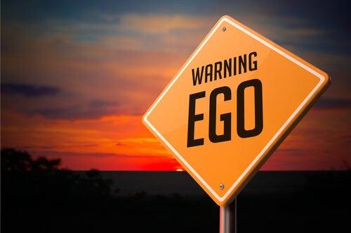 エゴの道路標示