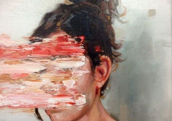 塗りつぶされた顔