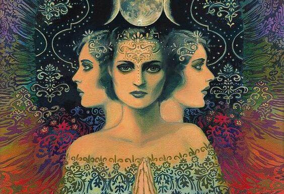 三つの顔の女性