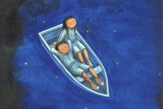 ボートのカップル