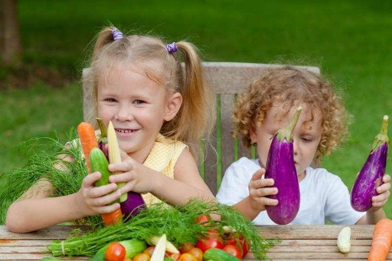 野菜と子供