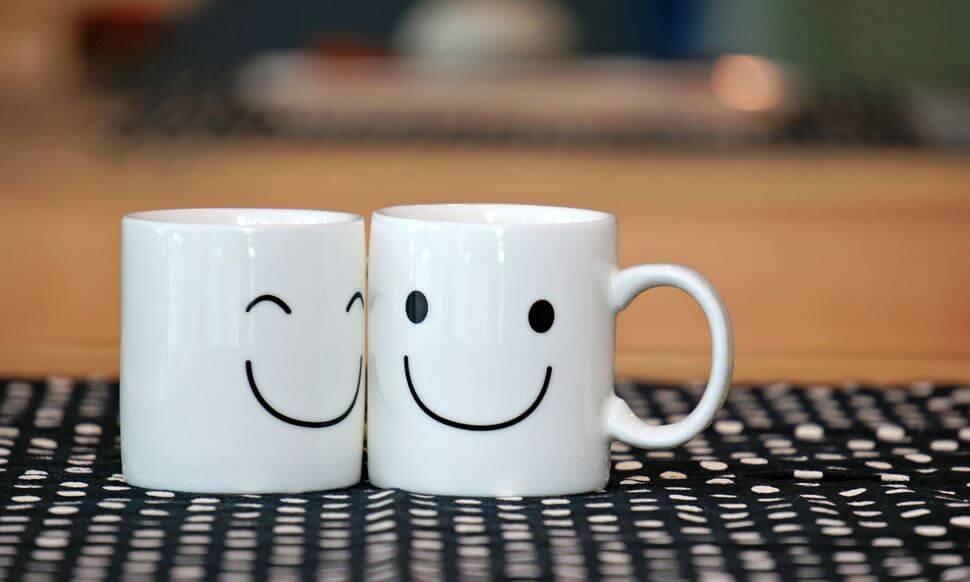 笑顔のカップ
