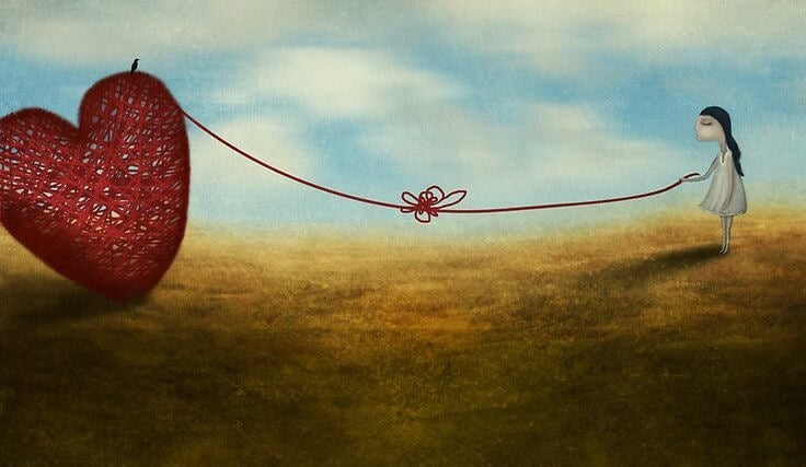 心の糸をつむぐ少女