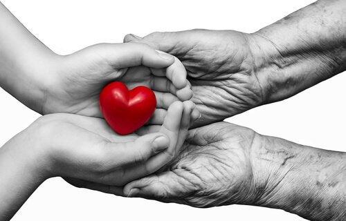 手に上の心臓