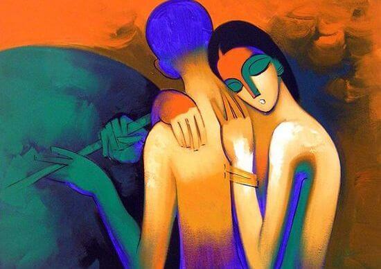 裸で抱き合う男女