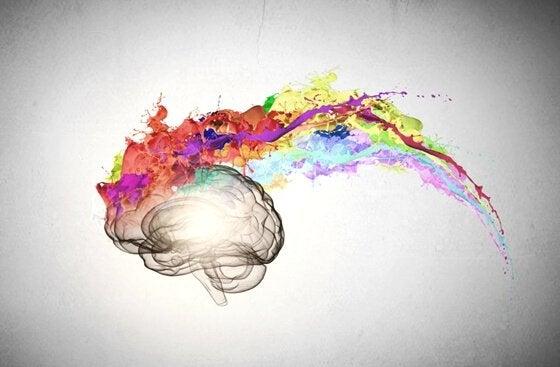 様々な色を放出する脳