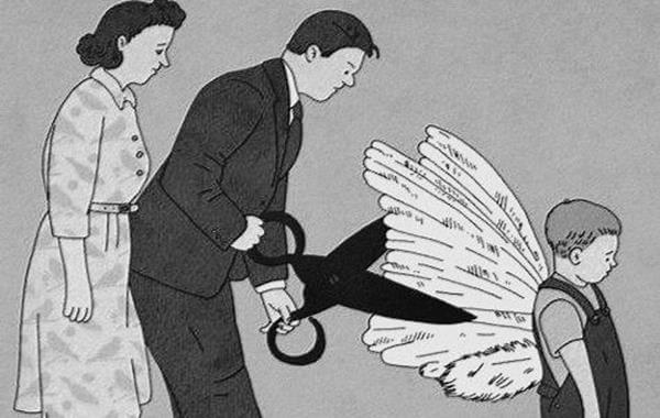 子供の翼を切り取る親