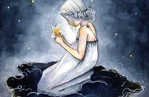 星を手にする少女