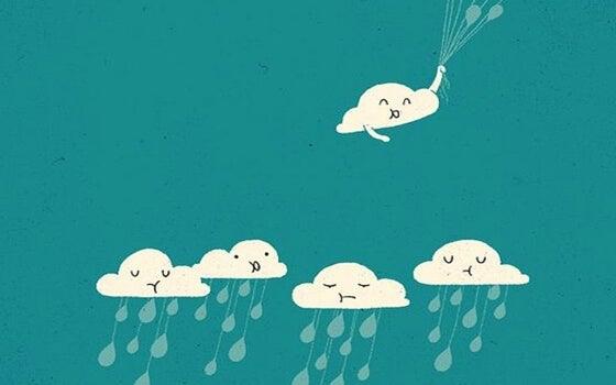 笑顔の雲だけが上へ