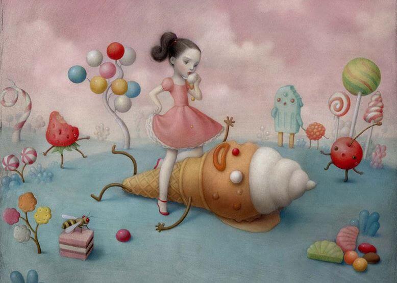 ソフトクリームと少女