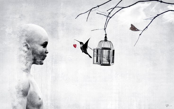 ハートを運ぶ鳥