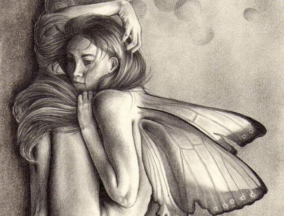 羽の生えた女性