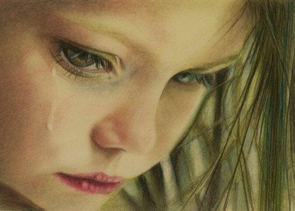 涙を流す少女