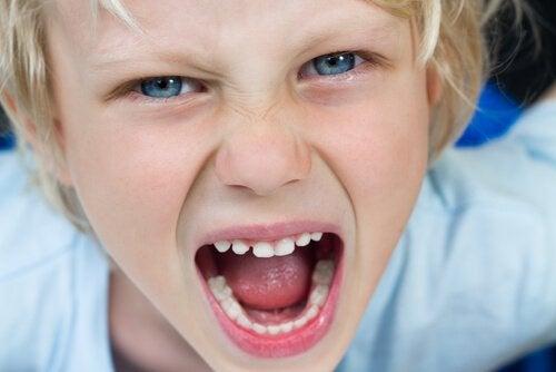 怒り叫ぶ子供