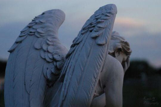 憂鬱な天使の石造