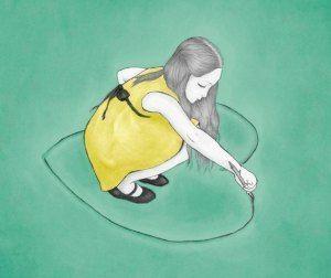 ハートを描く少女