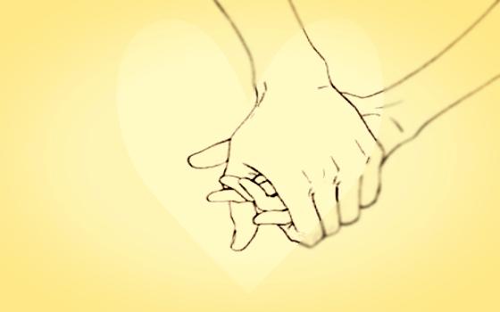 握り合う手