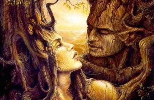 木のカップル