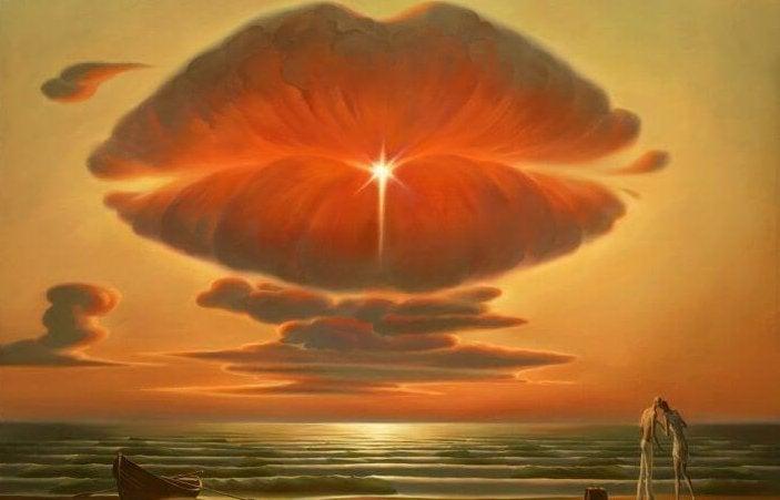 唇の形をした雲