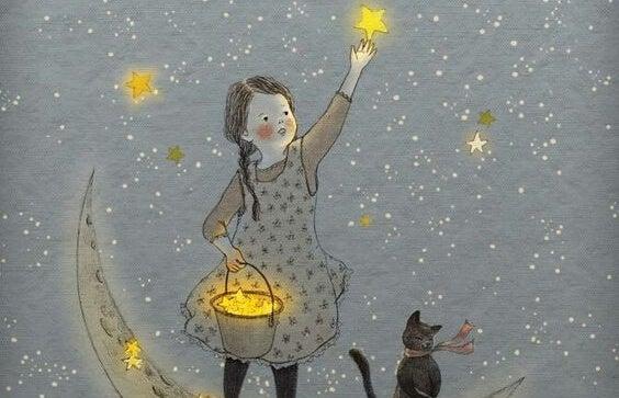 星を集める少女