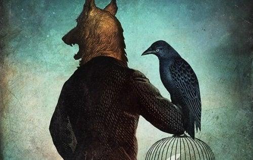 狼男とカラス