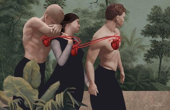 心臓でつながった三人