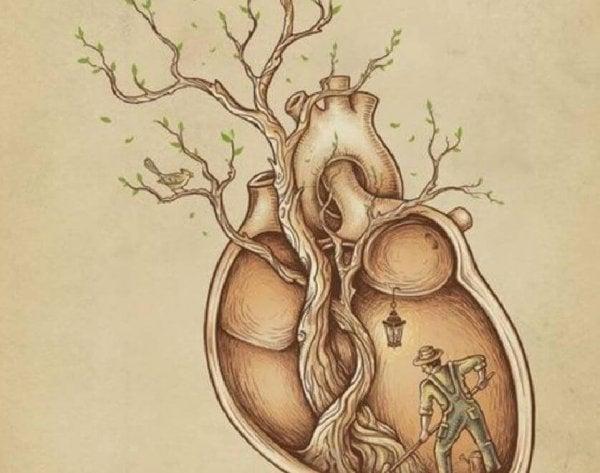 木が生えた心臓