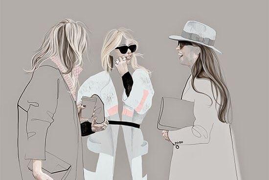 立ち話する3人の女性