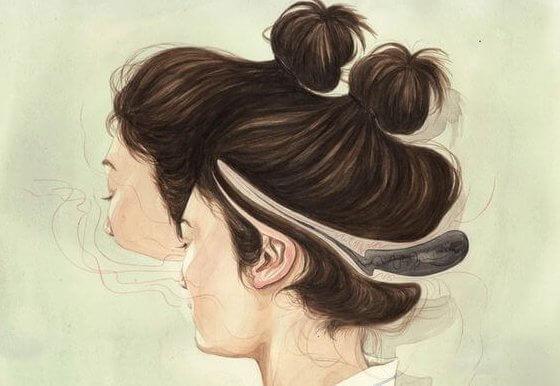 2つの頭を持った女