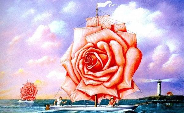 バラのヨット
