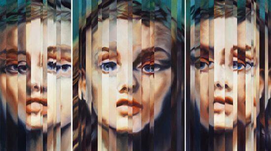 三つの女性の顔