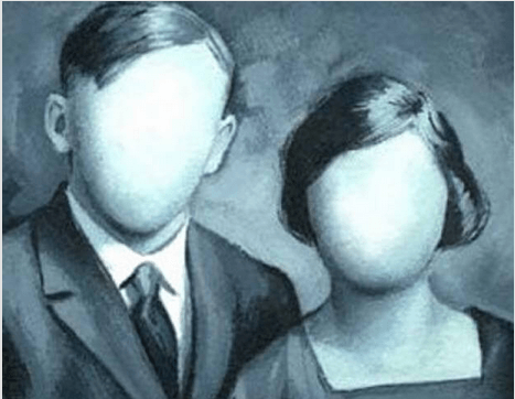 顔のない二人