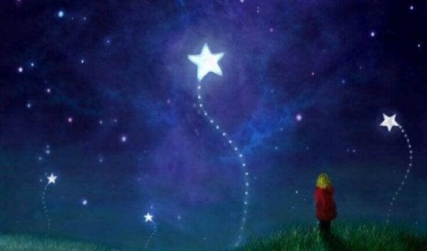 星の花と子供
