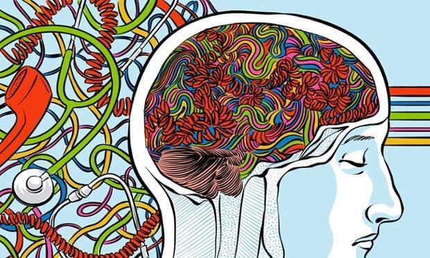 脳のカラフルなコード