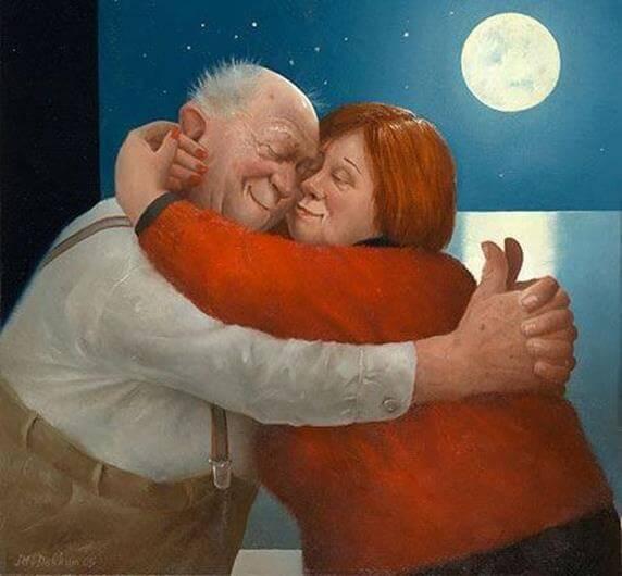 年老いたカップル